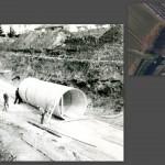 La grande condotta per realizzare il sottopasso della ferrovia VE-TS