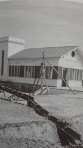 L'idrovora di Campalto durante la sua costruzione nel 1948