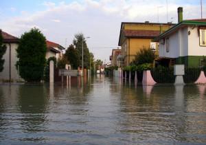 La via Passo Cereda a Favaro nel disastro del 2007