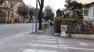 Via Castellana oggi. Qui scorreva il grande fossato della foto precedente