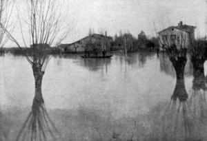 Aspetti dell'agro di Mestre durante un'alluvione (Foto inserita nel piano regolatore dell'abitato di Mestre del 1943)