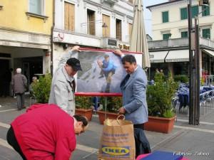 18.3.07 Giordano Bruno e Fabrizio Zabeo in piazza Ferretto