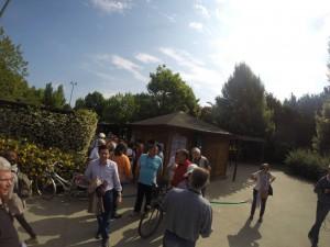 Ritrovo dei partecipanti alla passeggiata nel parco Hayez della Cipressina