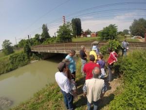 Il ponte lungo la ferrovia Mestre-Udine