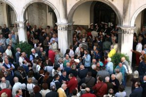 Comitati allagati protestano davanti al municipio di Mestre 1.10.2007