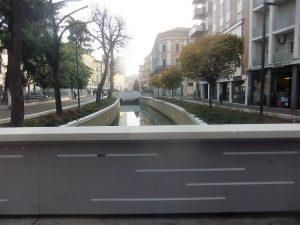 La stombinatura (primo tratto) del Marzenego tra Riviera XX Settembre e via Verdi