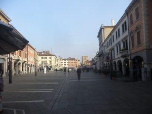 Piazza Ferretto con sullo sfondo la Torre dell'Orologio