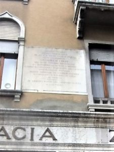 """Lapide che ricorda la """"Sortita di Marghera"""" del 27 ottobre 1848"""