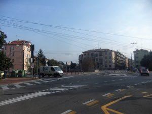 Il Piazzale Cialdini sotto cui scorre l'ultimo tratto del Marzenego propriamente detto
