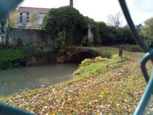 Arcata del ponte di pietra sul Marzenego, ramo delle Beccherie.