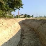 Si vede tutto il percorso del fosso fino all'immissione nel canale consortile di via Vallenari bis.