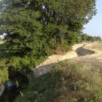 Intersezione del fosso by pass con la prima ansa della Fossa Pagana.