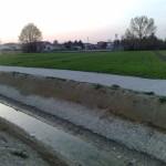 La campagna attraversata dalla via Vallenari bis con i fossi di scolina